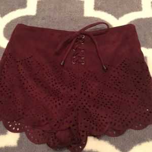 Forever21 Maroon Shorts